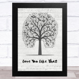 Dagny Norvoll Sandvik Love You Like That Music Script Tree Song Lyric Music Art Print