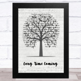 Oliver James Long Time Coming Music Script Tree Song Lyric Music Art Print