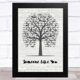 Van Morrison Someone Like You Music Script Tree Song Lyric Music Art Print