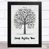 Aron Wright Look After You Music Script Tree Song Lyric Music Art Print