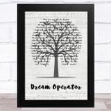 Talking Heads Dream Operator Music Script Tree Song Lyric Music Art Print