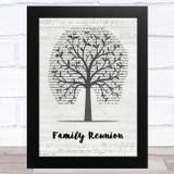 The O'Jays Family Reunion Music Script Tree Song Lyric Music Art Print