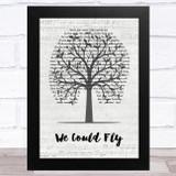 Rhiannon Giddens We Could Fly Music Script Tree Song Lyric Music Art Print