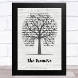 Tracy Chapman The Promise Music Script Tree Song Lyric Music Art Print