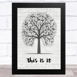 Michael Jackson This Is It Music Script Tree Song Lyric Music Art Print