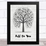 Scott Keo All to You Music Script Tree Song Lyric Music Art Print