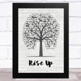Andra Day Rise Up Music Script Tree Song Lyric Music Art Print