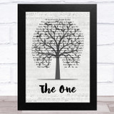 Kodaline The One Music Script Tree Song Lyric Music Art Print