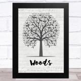 Mac Miller Woods Music Script Tree Song Lyric Music Art Print