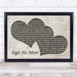 Mumford & Sons Sigh No More Landscape Music Script Two Hearts Song Lyric Music Art Print