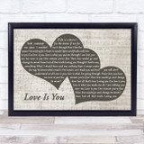 Robbie Williams Love Is You Landscape Music Script Two Hearts Song Lyric Music Art Print