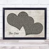 Kodaline The One Landscape Music Script Two Hearts Song Lyric Music Art Print