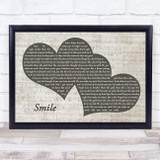 Uncle Kracker Smile Landscape Music Script Two Hearts Song Lyric Music Art Print