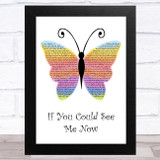 The Script If You Could See Me Now Rainbow Butterfly Song Lyric Music Art Print