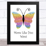 Ben Howard Move Like You Want Rainbow Butterfly Song Lyric Music Art Print