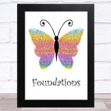 Kate Nash Foundations Rainbow Butterfly Song Lyric Music Art Print