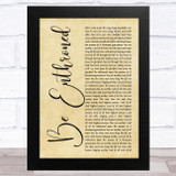 Bethel Music Be Enthroned Rustic Script Song Lyric Music Art Print