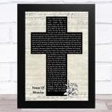Brandon Lake House Of Miracles Music Script Christian Memorial Cross Song Lyric Music Art Print