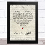 Thomas Rhett Be A Light Script Heart Song Lyric Music Art Print