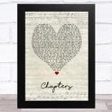 Brett Young Chapters Script Heart Song Lyric Music Art Print