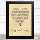 Paramore Misguided Ghosts Vintage Heart Song Lyric Music Art Print