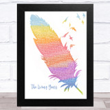 Mike + The Mechanics The Living Years Watercolour Feather & Birds Song Lyric Music Art Print