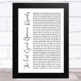 Taylor Swift The Last Great American Dynasty White Script Song Lyric Music Art Print