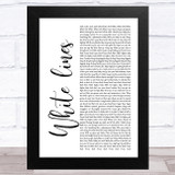 Grandmaster Flash White lines White Script Song Lyric Music Art Print