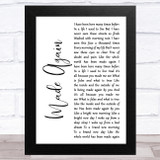 Marillion Made Again White Script Song Lyric Music Art Print