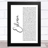 Marillion Estonia White Script Song Lyric Music Art Print