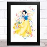 Snow White Disney Splatter Art Children's Kids Wall Art Print