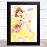 Belle Name Disney Splatter Art Children's Kids Wall Art Print