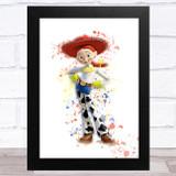 Jessie Toy Story Splatter Art Children's Kids Wall Art Print