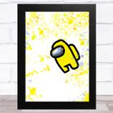 Among Us Yellow Splatter Art Children's Kids Wall Art Print