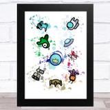 Among Us Pets Splatter Art Children's Kids Wall Art Print