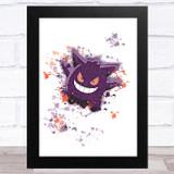 Genga Pokémon Splatter Art Children's Kids Wall Art Print