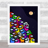 Among Us Piles Of In Space Children's Kids Wall Art Print