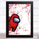 Among Us Red Splatter Art Children's Kids Wall Art Print