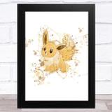 Evie Pokémon Splatter Art Children's Kids Wall Art Print