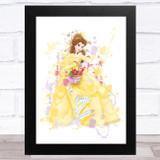Belle Disney Splatter Art Children's Kids Wall Art Print