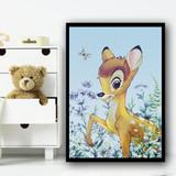 Bambi Vintage Colour Fade Children's Kids Wall Art Print