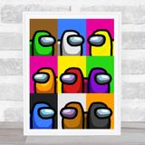 Among Us Colour Pop Art Children's Kids Wall Art Print