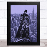 Batman Purple Cityscape Children's Kids Wall Art Print