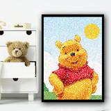 Winnie The Pooh Dot Art Children's Kids Wall Art Print