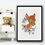 Bambi Grey Vintage Children's Kids Wall Art Print