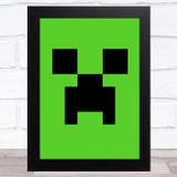 Minecraft Creeper Children's Kids Wall Art Print