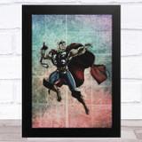 Thor Grunge Style Children's Kids Wall Art Print