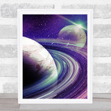 Celestial Collection Planets Space Design 2 Home Wall Art Print