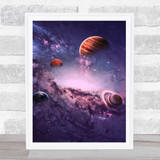 Celestial Collection Planets Space Design 3 Home Wall Art Print
