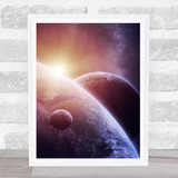 Celestial Collection Planets Space Design 8 Home Wall Art Print